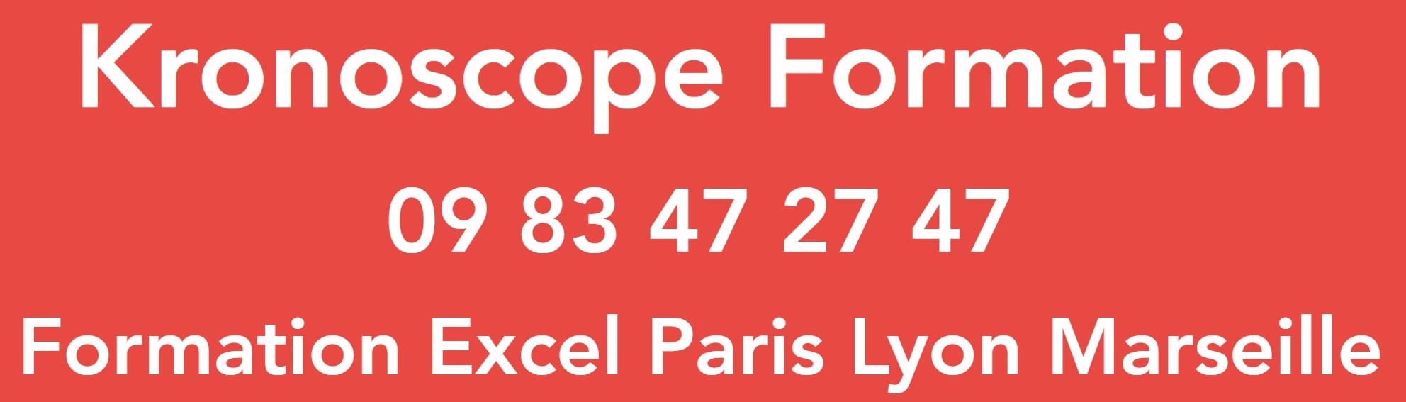 Kronoscope Formation Excel